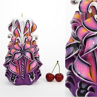 Candela - Idea regalo di compleanno per le donne e per gli uomini Giorno del padre - Decorazione in legno intagliata a man...
