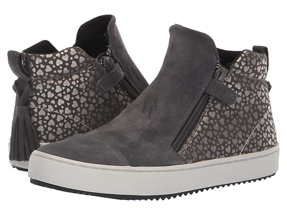 Geox Kids Kalispera Girl 12 (Big Kid) (Dark Grey) Girl
