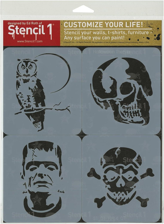 Stencil1 plastic1 Set 4 kg-Halloween Thema B00UY16C3Y  | Guter weltweiter Ruf