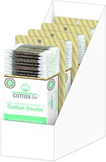 Cotton Too 300 Count Cotton Swab With Printed Paper Stick, 4 Pack