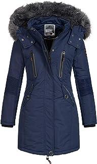 Geographical Norway - Giacca invernale da donna Coracle/Coraly XL con cappuccio in pelliccia