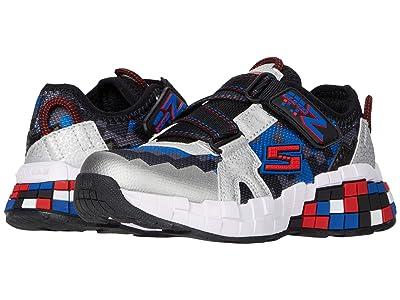 SKECHERS KIDS Sport Mega-Craft Cubotrons (Little Kid/Big Kid) (Black/Silver) Girls Shoes