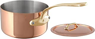 Mauviel 6801.13 M'Heritage 250B 2.5 mm 0.9 quart Copper Saucepan & Lid, Bronze Handle