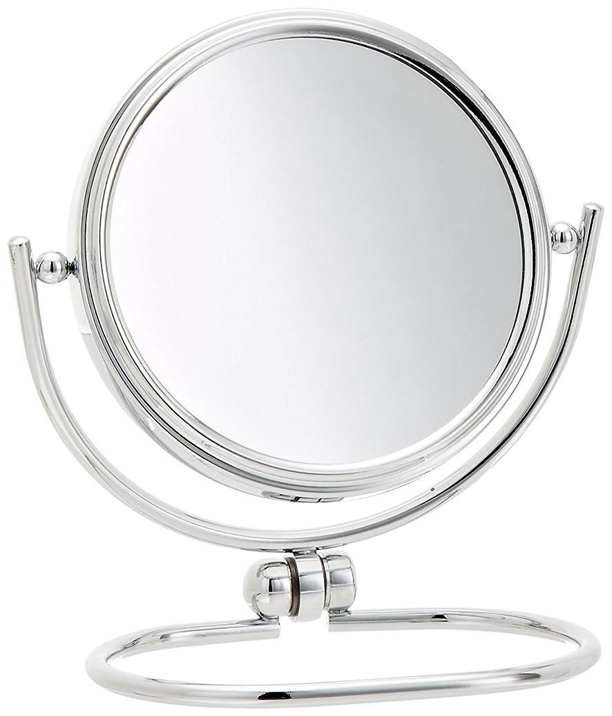 の頭の上スポット調べるJerdon(ジェルドン) / MC310C (クローム) 《折りたたみ式拡大鏡》 [鏡面 直径8cm] 【10倍率/等倍率】 卓上型コンパクトミラー