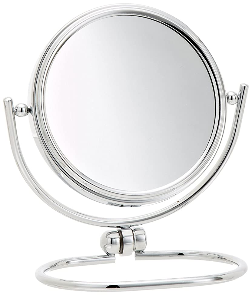 牧師北東仕立て屋Jerdon(ジェルドン) / MC310C (クローム) 《折りたたみ式拡大鏡》 [鏡面 直径8cm] 【10倍率/等倍率】 卓上型コンパクトミラー