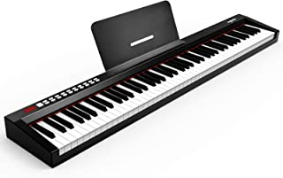 88-Key Digital Piano Keyboard with Sustain Pedal, ingbelle P