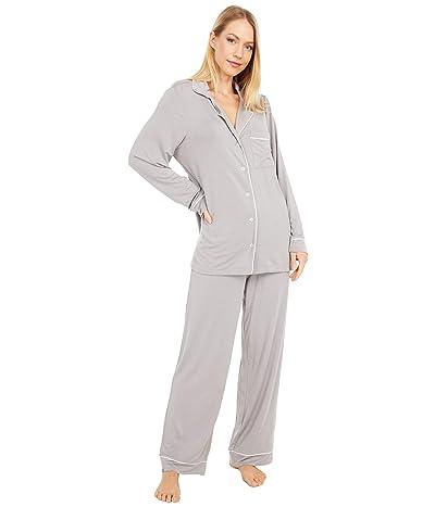 Barefoot Dreams Luxe Milk Jersey Pajama Set (Pewter) Women