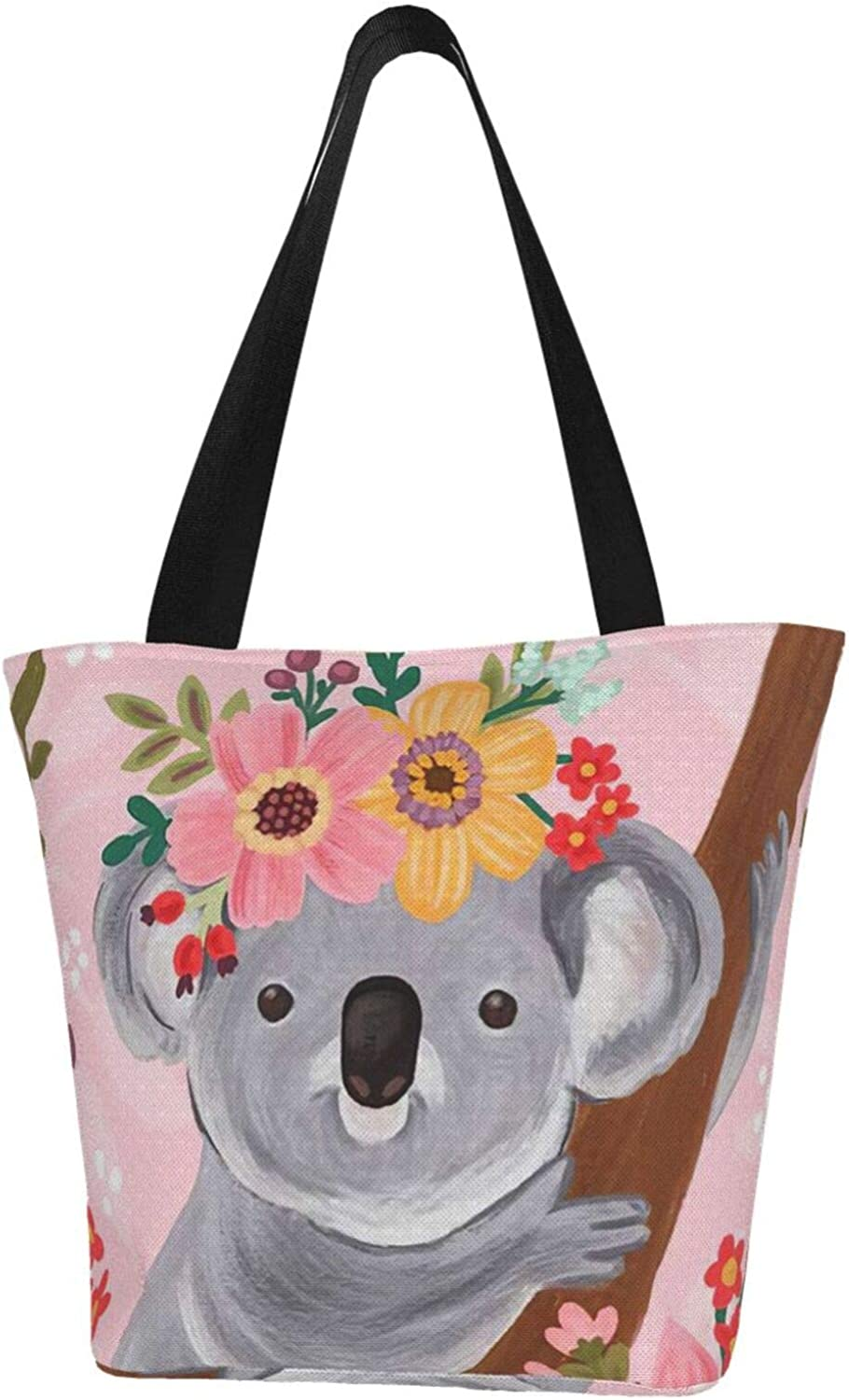 Pink Flowers Cute Animer and price revision Koala Animals Women C Themed Australia Manufacturer OFFicial shop Printed