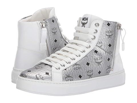MCM High Top Lace-Up Visetos Sneaker