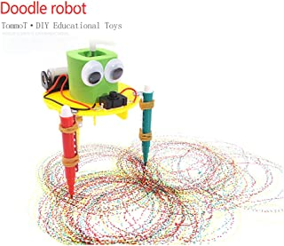 TommoT Doodling Robot,Small Science and Technology Model, Science Experimental Materials,Students Hand Science Model