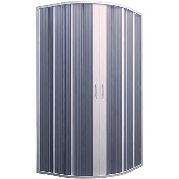 Cabina de ducha fuelle semicircular Ap. Central 90-70 x 90-70 reducible.: Amazon.es: Bricolaje y herramientas