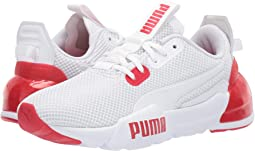 PUMA White/High-Risk Red