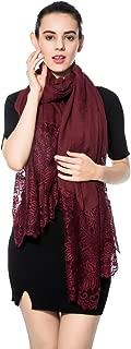 black pom scarf