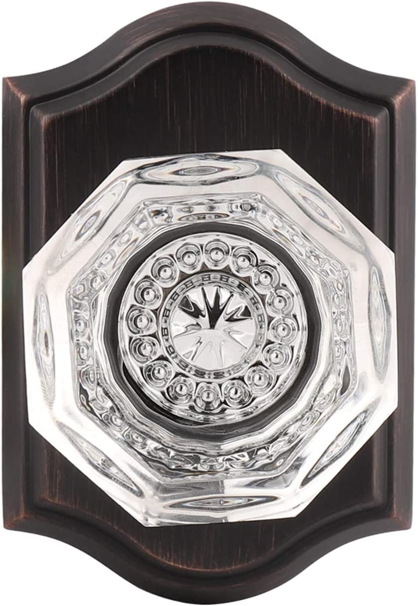 Gobrico Dummy Time sale Crystal Knob in Oil Rubbed Bronze Interior for Clo Cheap SALE Start