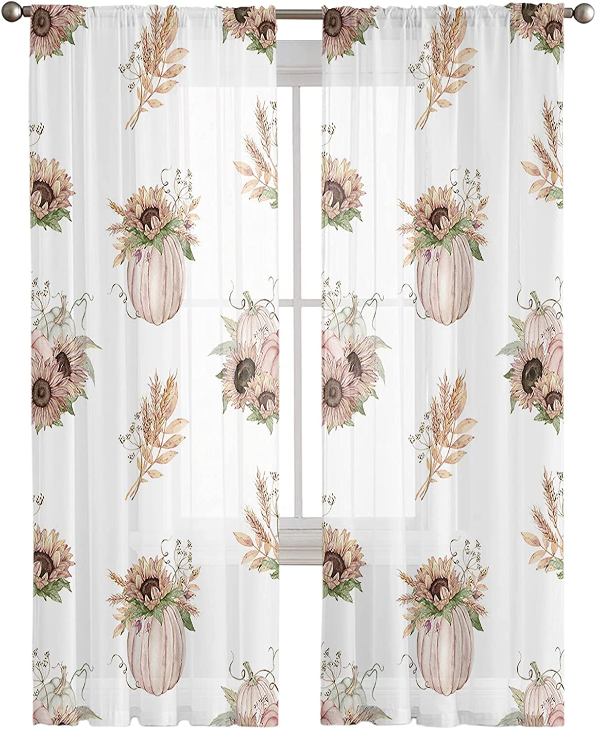 In stock Semi Dealing full price reduction Sheer Curtains 2 Treatments Window Panels Privacy