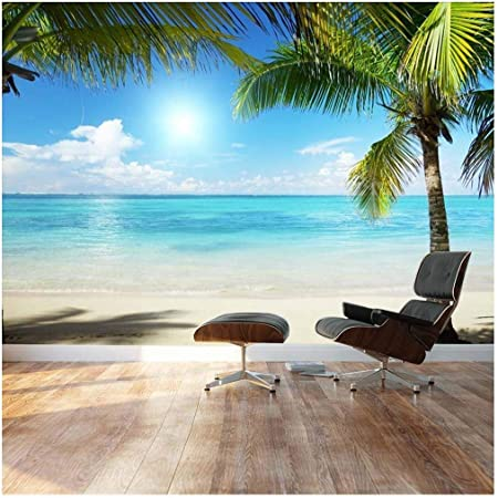 Details about  /3D Wave Beach Sunset I441 Wallpaper Mural Sefl-adhesive Removable Noirblanc Amy