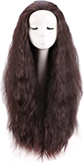 Women's Long Dark Brown Curly Cosplay Wig for Anime