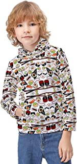 Kid's Novelty Sweater Military Camouflage American Flag Pullover Hoody Sweatshirt Teen's Breathable Sports Hoodies-