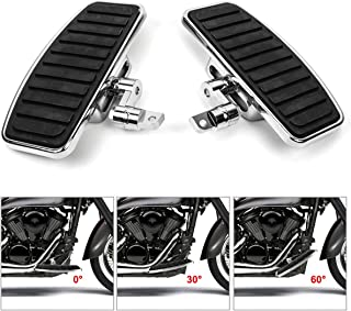 Floorboards Motorcycle Front Foot Peg with Adjustable Height Function for Harley XL883 XL1200 X48 72 (Horizontal stripes)