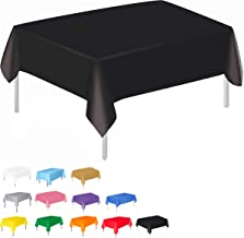 """Plastic Tablecloth for Rectangle Table 54"""" x 72"""" Disposable Table Cover for Bridal Shower Wedding Birthday Party Decoratio..."""