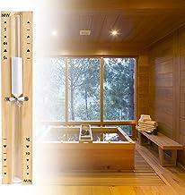 HENGBIRD Sablier de sauna - Accessoires en bois - 15 minutes - Résistant à la chaleur - Montage mural - Respectueux de l'e...