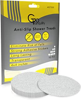 GoTranquility Anti Slip Safety Bathtub Stickers Non-Slip Shower Grip Treads to Prevent Slippery Surfaces Clear PEVA Tape