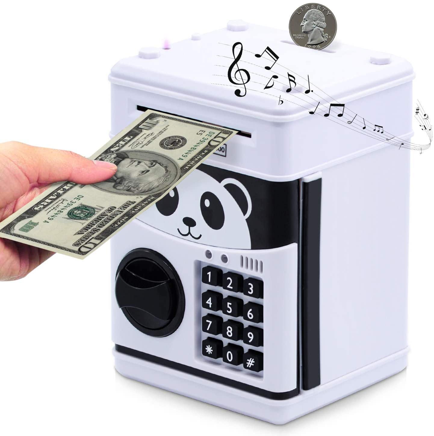 15. Panda Piggy Money Bank for Kids