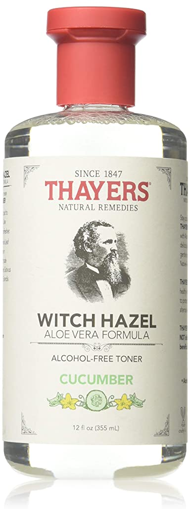 全滅させる強制インシュレータx Thayers Witch Hazel with Aloe Vera Cucumber - 12 fl oz by Thayer's