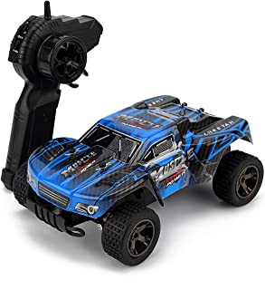 RC Car, KINGBOT 20Mph/H 1: 18 Scale 2.4Ghz High Speed Radio Control Die-Cast Off-Road Vehicle with 50M Remote Control Racing Cars, Blue