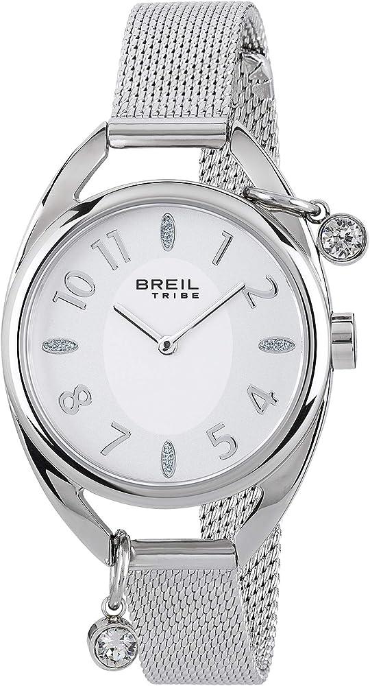 Breil orologio donna in acciaio con due piccoli charms luccicanti EW0355