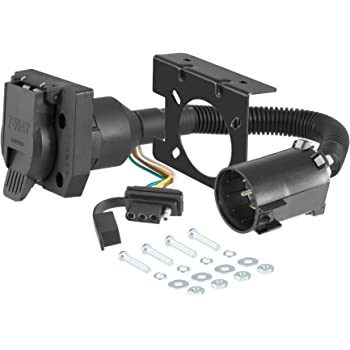 CURT 55774 Dual-Output Vehicle-Side Trailer Wiring Harness Connectors for USCAR, 7-Pin, 4-Pin