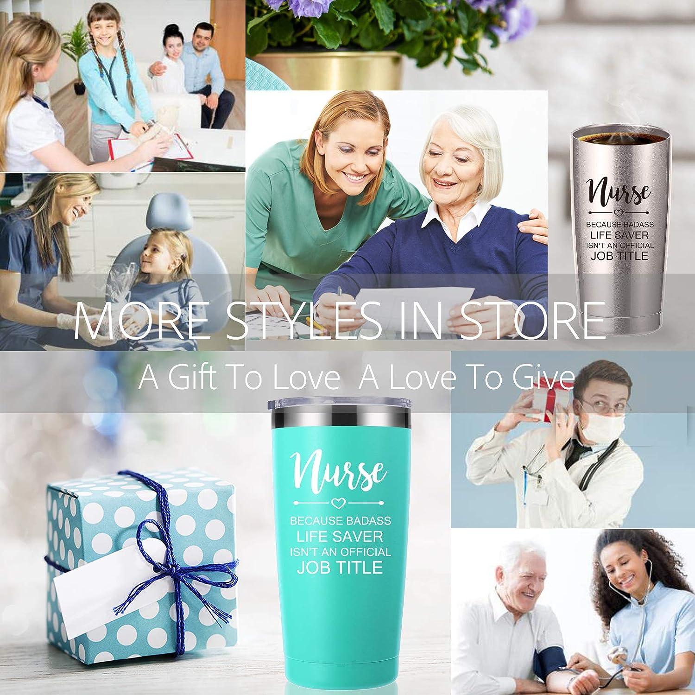 Nurse Because Badass Life Saver Isn't An Official Job Title 20 OZ Tumbler.Inspirational Appreciation Nursing Graduation Gifts for Nurse