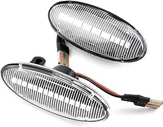 HAZYJT Indicateur Dynamique De Rétroviseur Clignotants À LED Miroir Compatible with Ni-ssan Qashqai Dualis Juke Micra Marc...