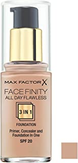 Max Factor Facefinity All Day Flawless, Liquid Foundation, 3In1, 055 Beige, 30 Ml, 30ml