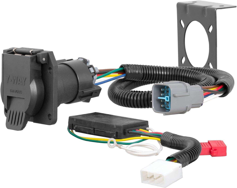 amazon.com: curt 56366 vehicle-side custom rv blade 7-pin trailer wiring  harness, fits select honda pilot, ridgeline , black : automotive  amazon.com