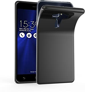 Cadorabo Case Works with Asus ZenFone 3 Deluxe in Black – Shockproof and Scratch Resistant TPU Silicone Cover – Ultra Slim Protective Gel Shell Bumper Back Skin