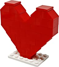 LEGO Red Heart with White Stand - Custom Mother's Day or Valentines Romantic Love Minifigure Set