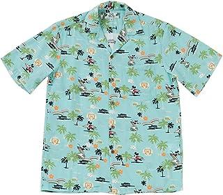 [トゥーパームス/TWO PALMS] アロハシャツ 半袖 シャツ アメリカ製 ディズニー 柄 メンズ レディース