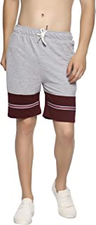 LEVIZO Cotton Gym Workout Half Pant and Shorts for Man with Zipper Pocket