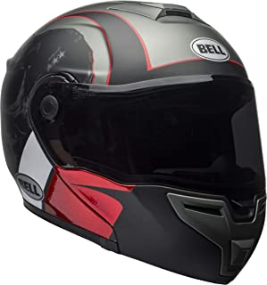 Bell SRT Modular Street Motorcycle Helmet(Hart Luck Skull Charcoal/White/Red, Medium)