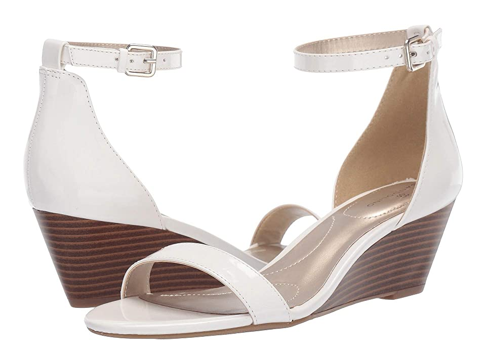 Bandolino Dreammaker White Synthetic Womens Wedge Shoes