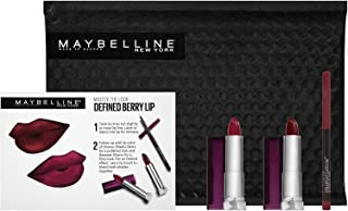 Maybelline New York Makeup Gift Set 2Pcs Lipstick Deepest Cherry-Blissful Berry Plus Shaping Lip Liner 160 Rich Wine