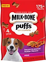 Milk-Bone Puffs Light and Crunchy Dog Treats, 8 Ounce Pouch (Pack of 4)