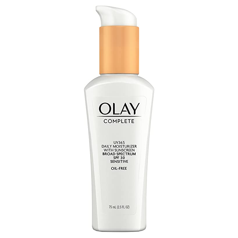 Face Moisturizer by Olay Complete Daily Defense All Day Moisturizer With Sunscreen SPF30 Sensitive Skin, 2.5 fl. Oz., (Pack of 2)