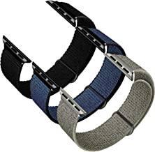 GZ GZHISY Sport Band Compatible with Apple Watch Band 38mm 40mm 42mm 44mm, Soft Breathable Sport Loop Band Replacement Ban...