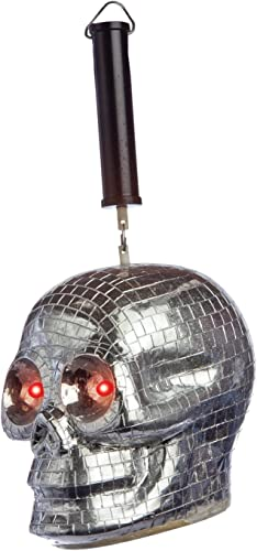 Morbid Enterprises Skull Disco Ball, plata negro rojo, One Talla by Morbid