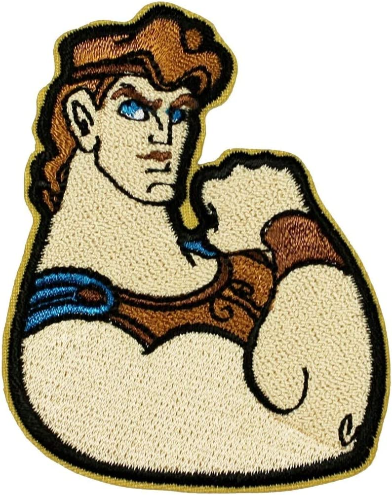Hercules Flex Challenge the lowest price of Japan Patch Greek God Hero Cartoon Iron Embroidered On Max 71% OFF A