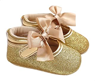 Mix & Max Front Ribbon Pull Tab Back Glittery Shoes for Girls