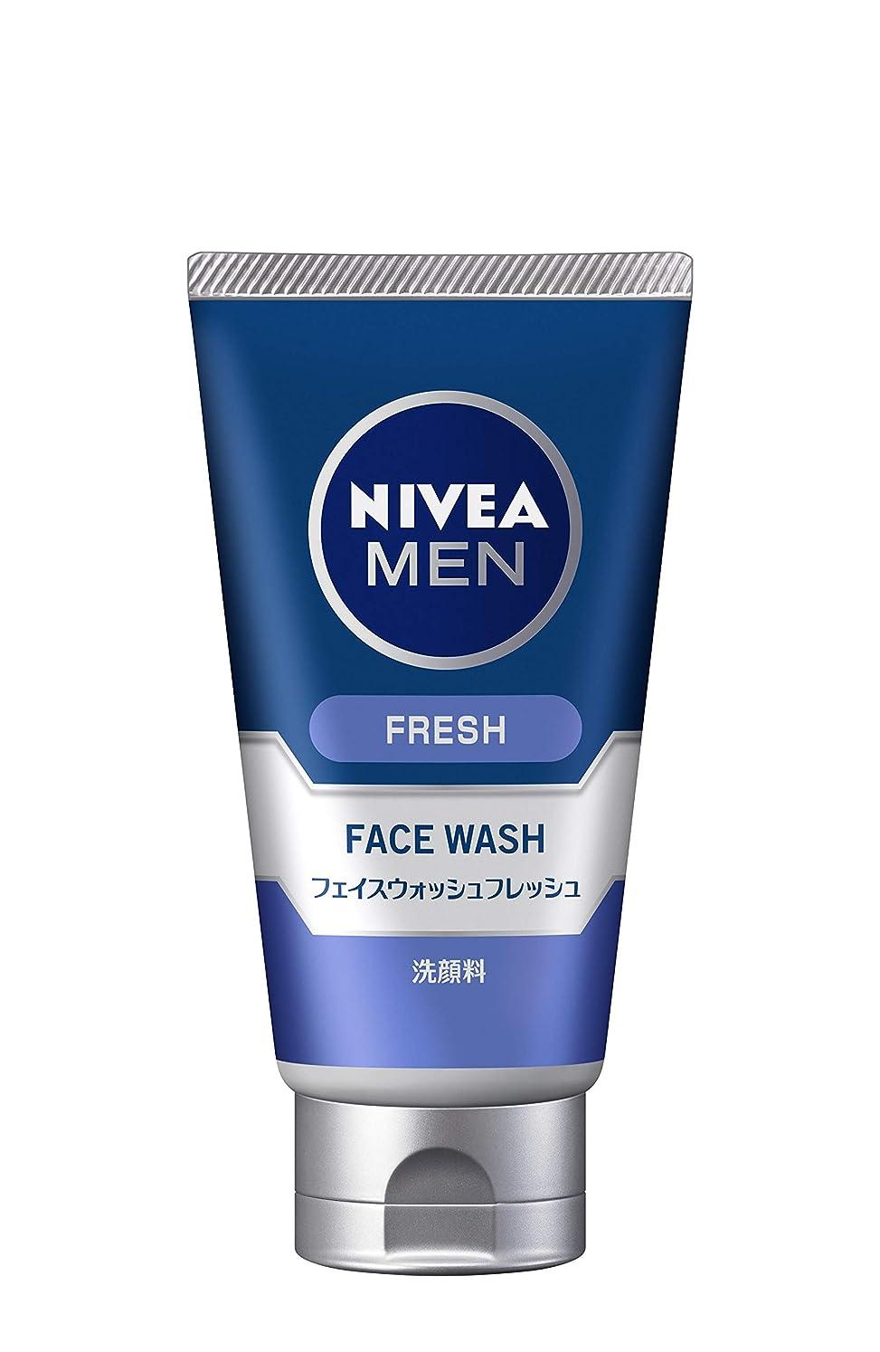 時系列ぴったり分子ニベアメン フェイスウォッシュフレッシュ 100g 男性用 洗顔料