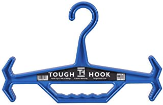 Tough Hook | Heavy Duty, Multipurpose Gear Hanger | 150 lb Load Capacity | Made in USA | High-Impact Plastic for Extreme Durability (Blue)